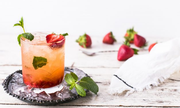 Bourbon Basil Strawberry Smash