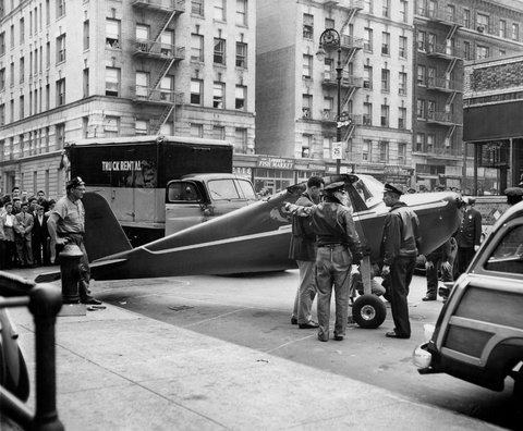 Thomas Edward Fitzpatrick stole an airplane and landed it on a street in New York City.